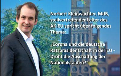 Stammtisch am 03.September mit dem Bundestagsabgeordneten Norbert Kleinwächter