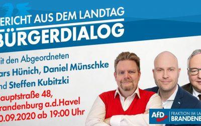 BÜRGERDIALOG am 10.September 2020 um 19:00 Uhr in der Ambrosius Pinte